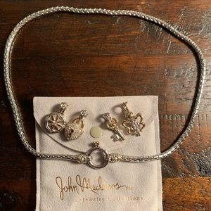 John Medeiros Spring Ring Chain Necklace & charms